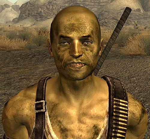 Driver Nephi (Fallout New Vegas) rictus face closeup