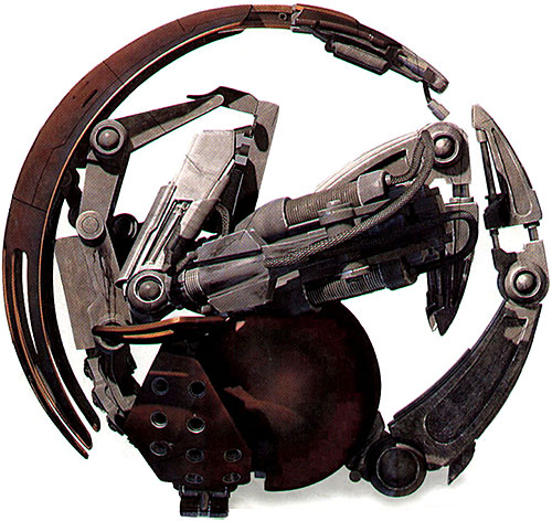 Droideka (Star Wars movie) in rolling mode