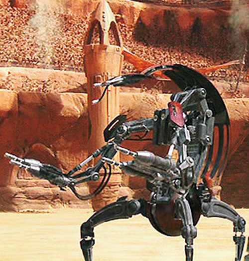 Droideka (Star Wars movie) in an arena