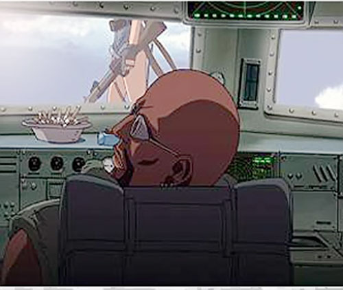 Dutch (Black Lagoon) at the helm of his ship