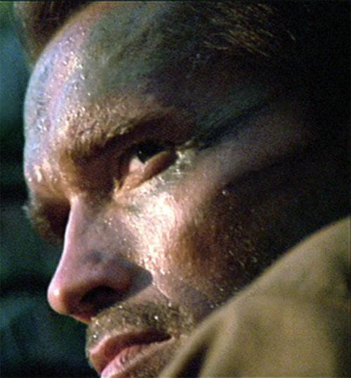 Dutch Schaeffer (Arnold Schwarzenegger in Predator) staring
