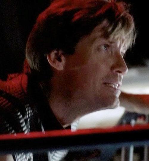 Dylan Hunt (Kevin Sorbo in Andromeda) teeth bared