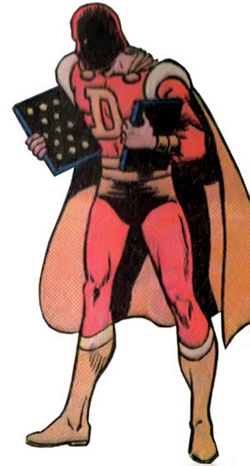 Dyna-Mind (Superboy enemy) (DC Comics) holding tablets