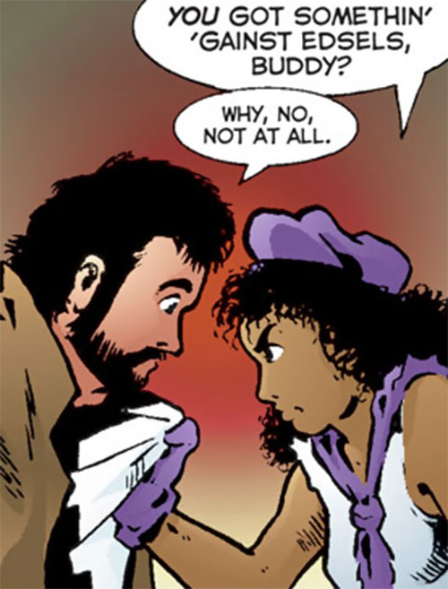 Edsel (Matt Wagner's Mage comics) confronting Kevin about Edsels