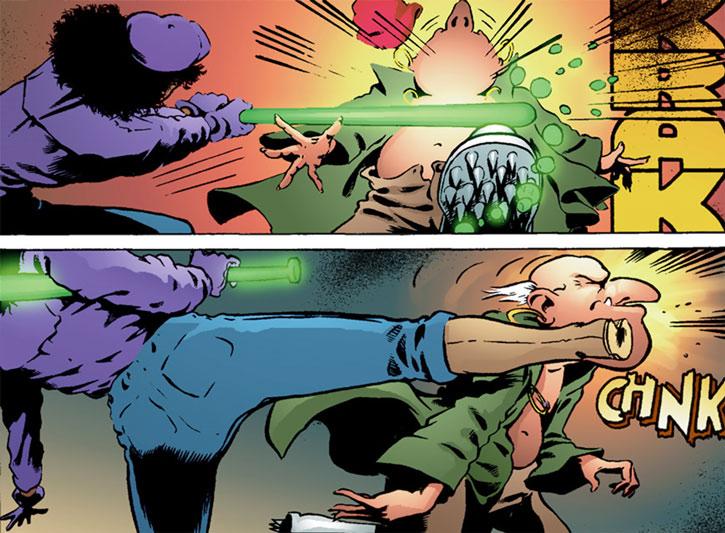 Edsel (Matt Wagner's Mage comics) hitting a redcap