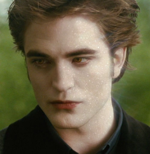 Edward Cullen (Robert Pattinson in Twilight movies) glittering