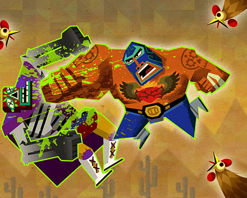 El Luchador (Guacamelee) punching an opponent