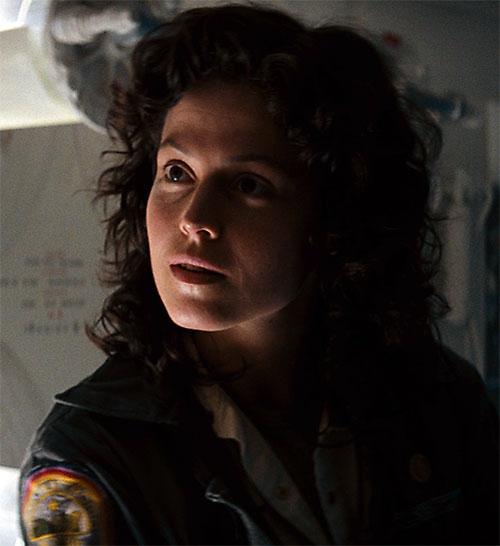 Ellen Ripley (Sigourney Weaver in Alien movies) face closeup