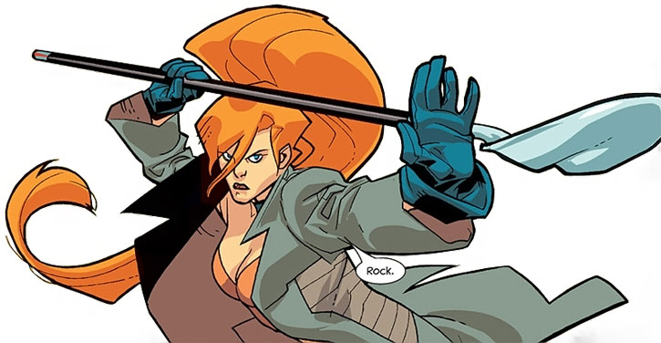 Elsa Bloodstone armed with a shovel