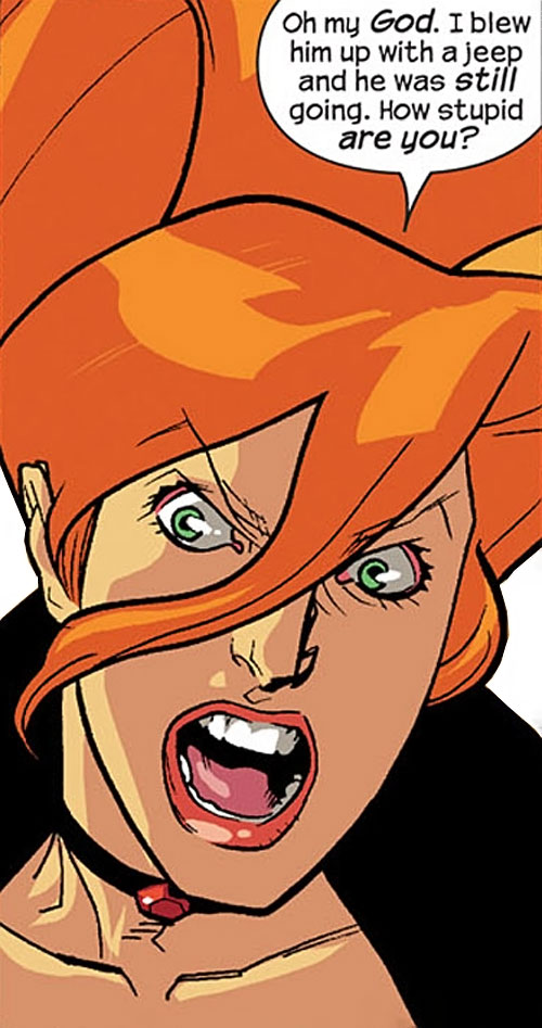 Elsa Bloodstone of Nextwave (Marvel Comics) yelling