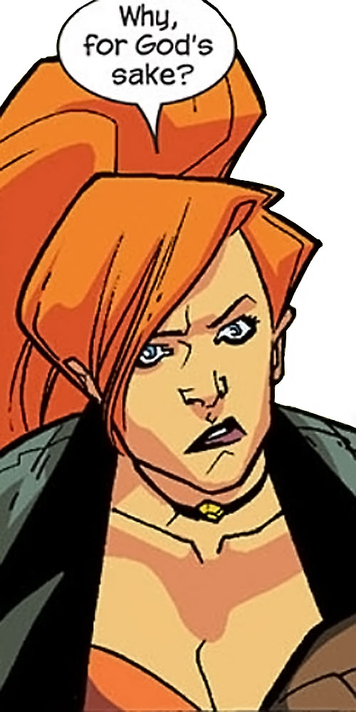 Elsa Bloodstone of Nextwave (Marvel Comics) flabbergasted