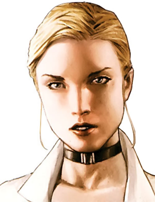 Elsa Bloodstone (Marvel Comics after Nextwave) face closeup with white shirt