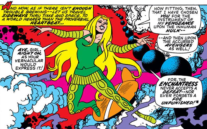 The Enchantress (Amora of Asgard) in a magic dimension
