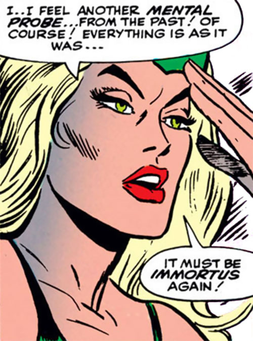 Enchantress (Thor enemy) (Marvel Comics) (Early) face closeup focusing