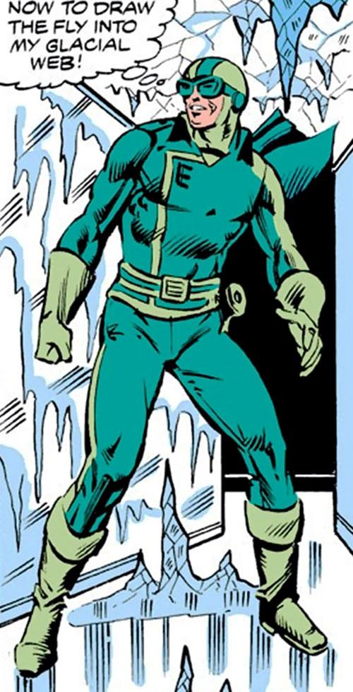 Endotherm (Iron Man enemy) (Marvel Comics) among ice