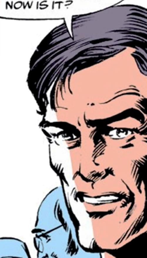 Endotherm (Iron Man enemy) (Marvel Comics) face closeup