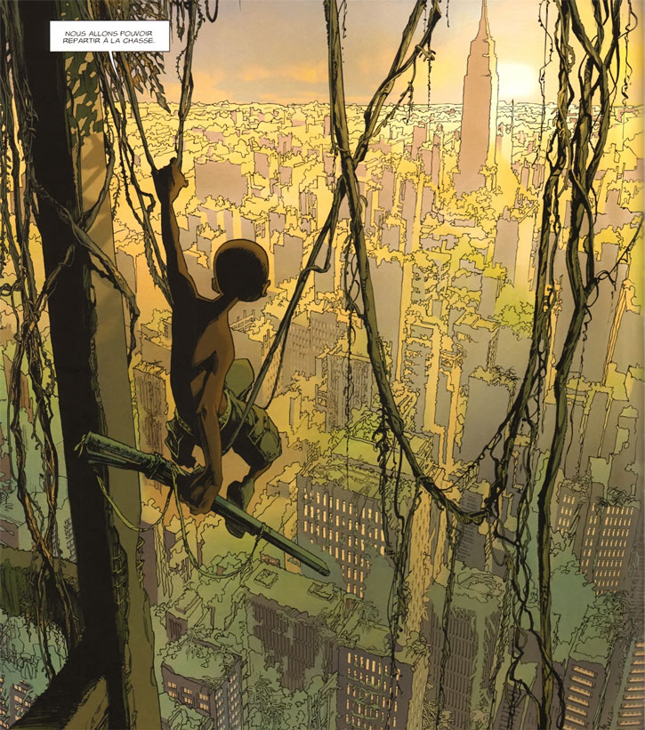 Niourk - Enfant Noir - Olivier Vatine - ruines de New York City