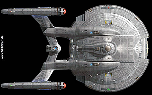 Enterprise NX-01 (Star Trek starship) top view