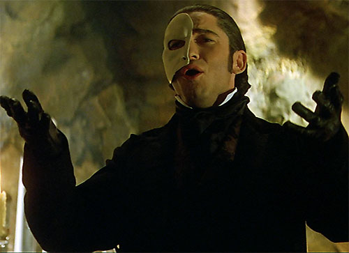 Erik the Phantom of the Opera (Webber version) singing
