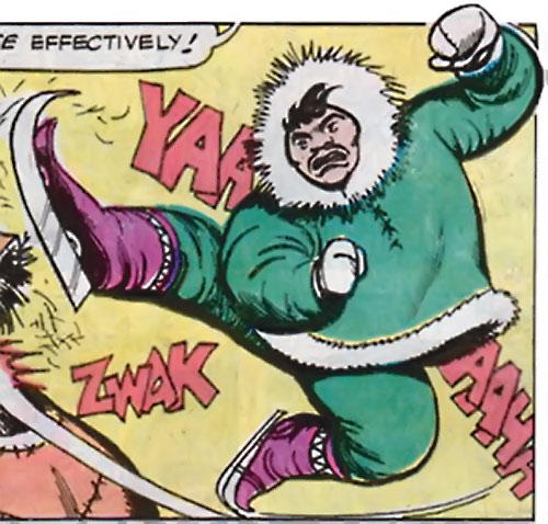 Eskimo karate ice skate killer (Richard Dragon enemy) (DC Comics)