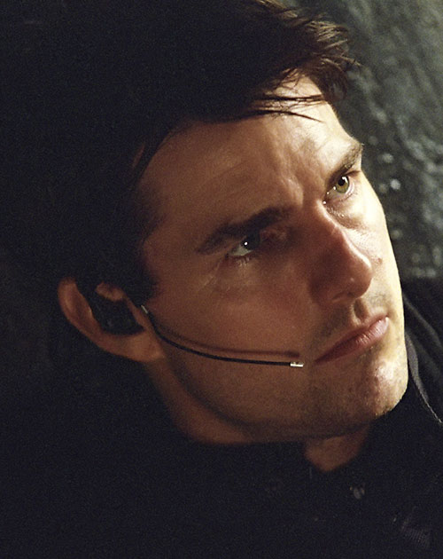 Ethan Hunt (Tom Cruise in Mission Impossible) closeup