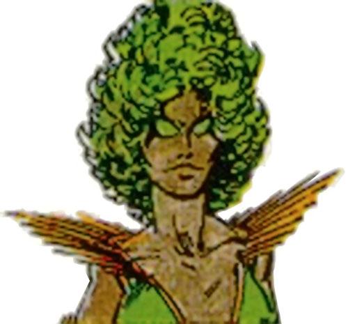 Evergreen (Villains & Vigilantes RPG) (Crisis at the Crusaders Citadel) color face closeup
