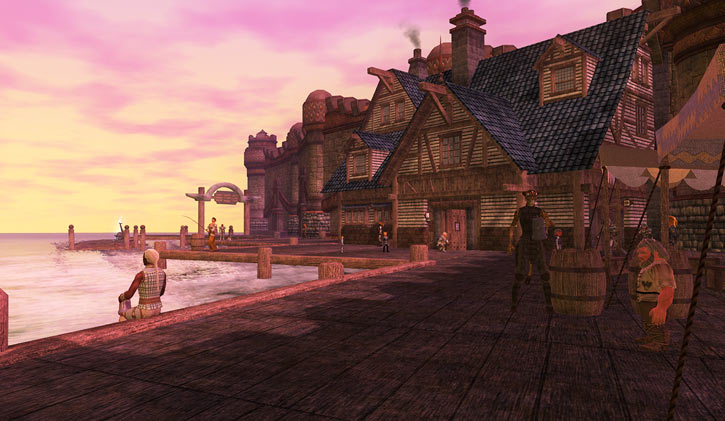 Everquest 2 - Qeynos harbour in the morning