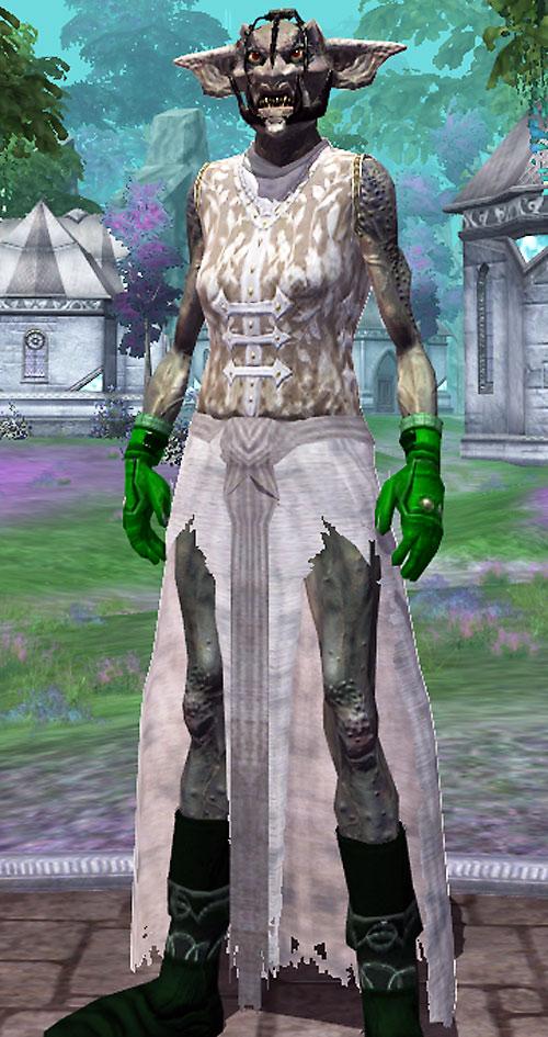 Everquest 2 female troll in white torn dress