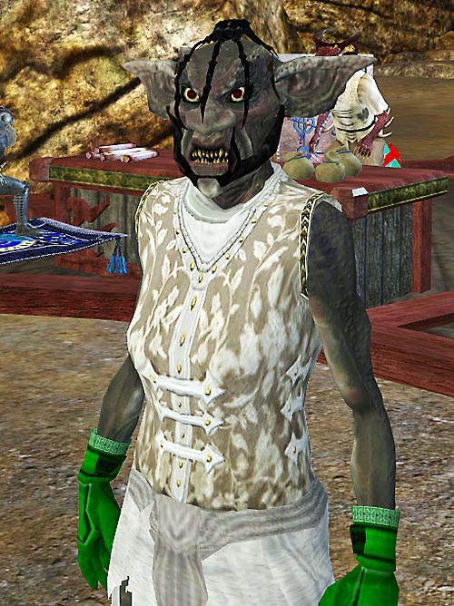 Everquest 2 troll female with body art