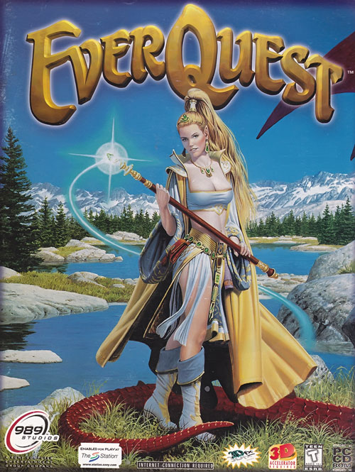 Cover art for the 1999 Everquest game by Parkinson, starring Firiona Vie