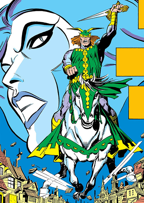 Excaliber (Marvel Comics) (Spider-Woman enemy) horse galloping
