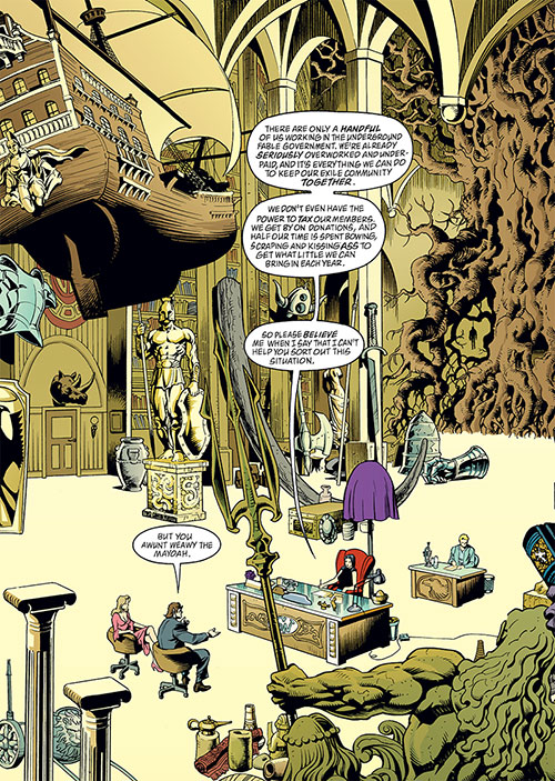 Fabletown (Fables DC Comics) mayor's giant office