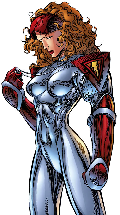 Fahrenheit (Stormwatch) (Wildstorm Comics) in the Stormwatch Red silver costume