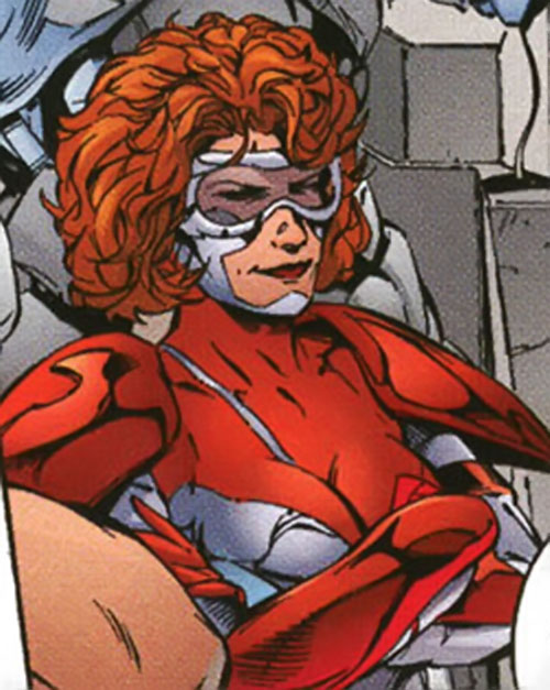 Fahrenheit (Stormwatch) (Wildstorm Comics) in the costume with the shoulder plates