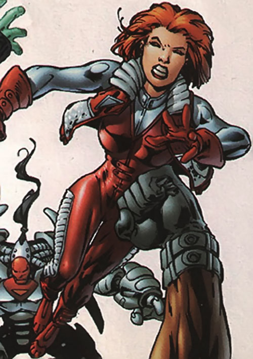 Fahrenheit (Stormwatch) (Wildstorm Comics) in the costume with the short vest
