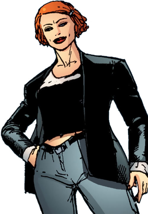 Fahrenheit (Stormwatch) (Wildstorm Comics) in her civvies with the PHD