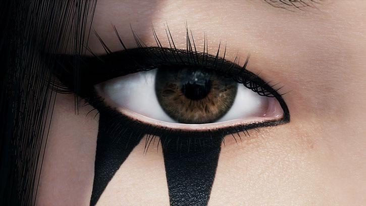 Faith Connors (Mirror's Edge) eye tattoo