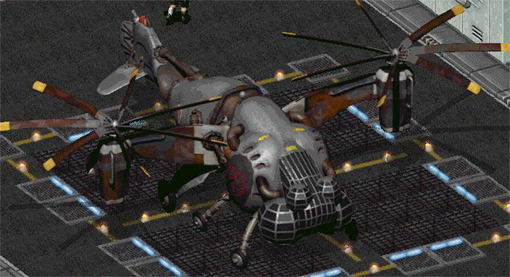 Fallout 2 - Enclave vertibird base