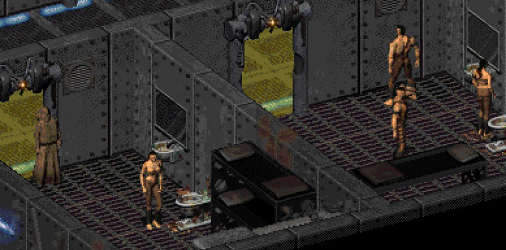 Fallout 2 tribal prisoners in the Enclave main base