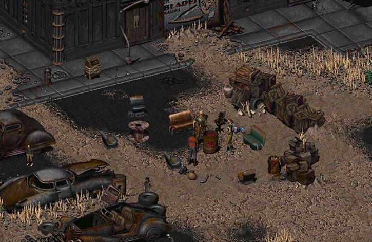 Fallout 2 - trapper town in Klamath