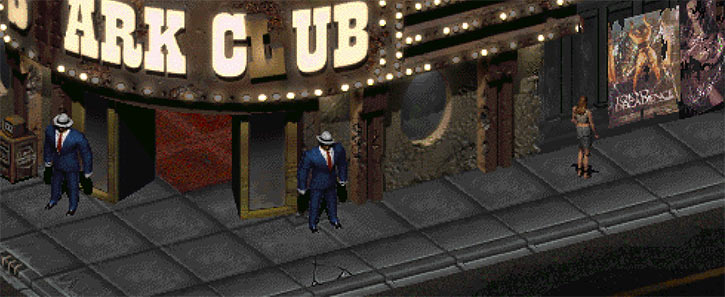 Fallout 2 - New Reno - Shark Club entrance