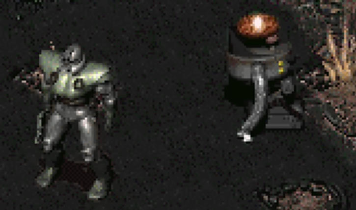 Fallout 2 - T51b power armour and a Robobrain unit