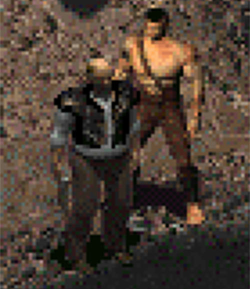 Fallout 2 sprite - Vic in leather with pistol