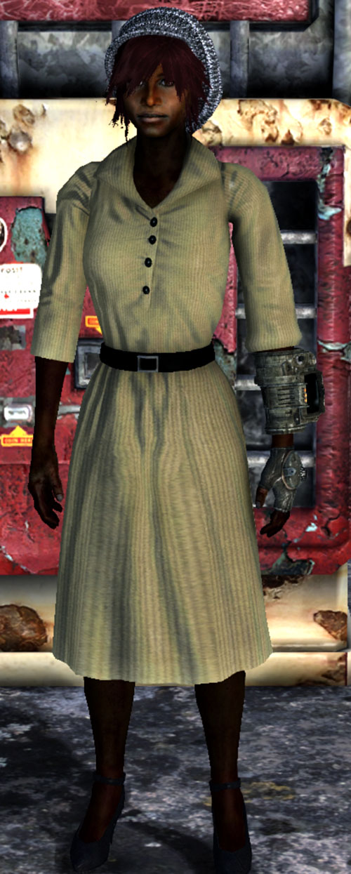 Fallout Lone Wanderer (Athena Griffin) 1950s beige dress