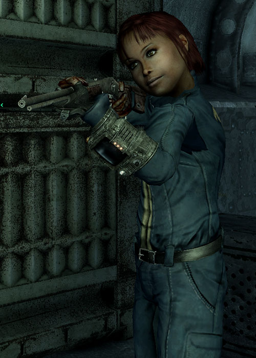 Fallout Lone Wanderer (Athena Griffin) at age 10 with her BB gun