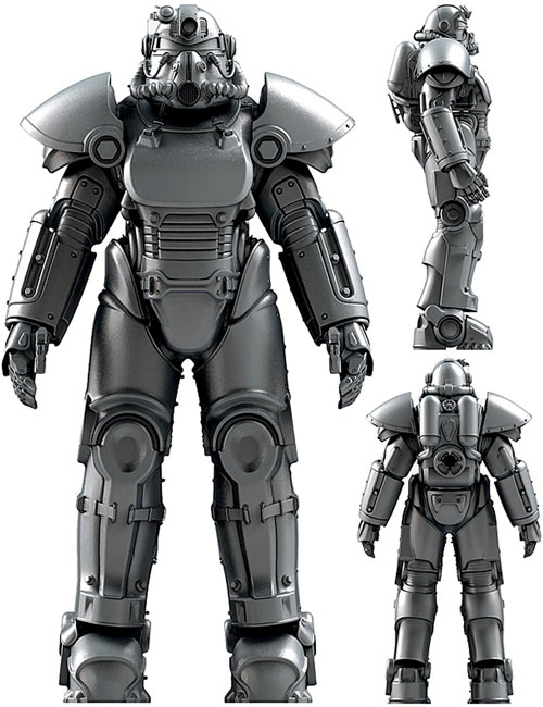 Concept art for a T51 power armor suit in Fallout