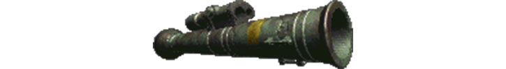 Rocket launcher in old Fallout games, looking like a M47 Dragon