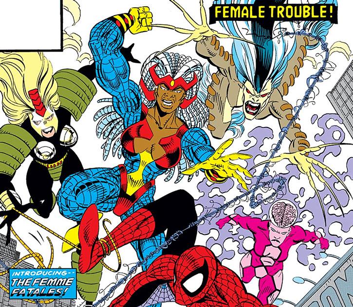 The Femmes Fatales vs. Spider-Man