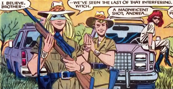 Fenris (Strucker twins) during the safari where they met Storm