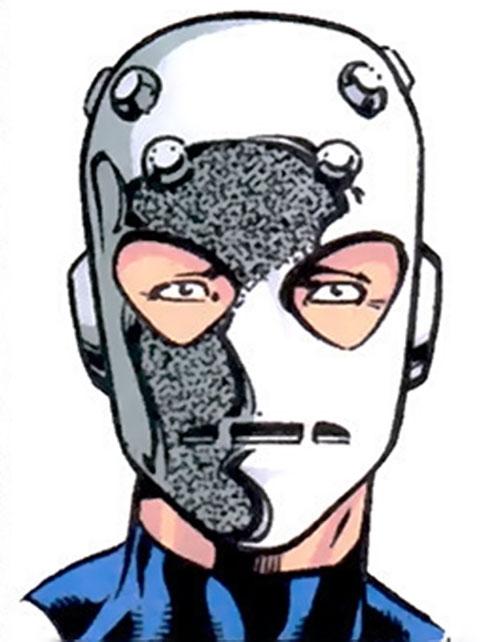 Ferro face and mask closeup
